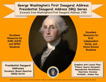 Washington's First Inaugural Address - DBQ - PDF Format for Printing