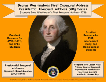 Washington's First Inaugural Address - DBQ - PPTX - Ready for 1-to-1 Devices