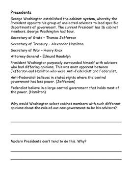 Washington's Presidency