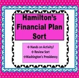 Washington's Presidency: Hamilton's Financial Plan Sort