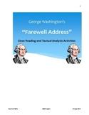 "Washington's ""Farewell Address"" - Common Core Aligned Activities"