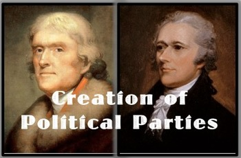 Washington's Presidency - Creation of Political Parties Hamilton & Jefferson