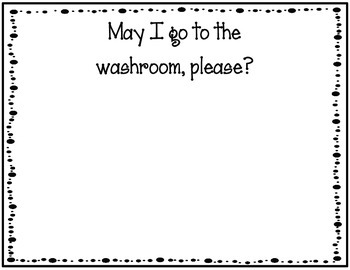 Washroom Pass for the Classroom