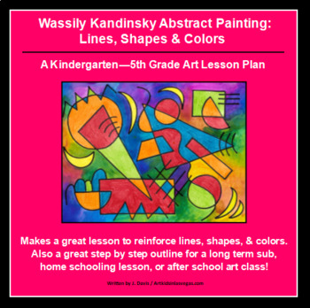 Wassily Kandinsky Abstract Painting: Lines, Shapes & Colors