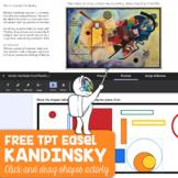 Wassily Kandinsky Easel Activity Freebie
