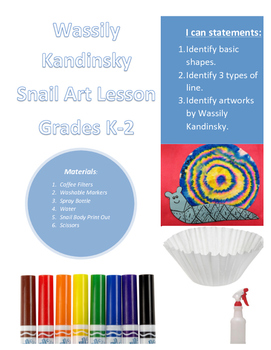 Wassily Kandinsky Snail Art Lesson