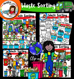 Waste Sorting clip art -Recycling - big set of 97 items!