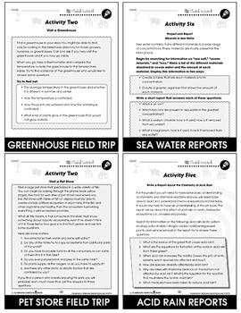 Waste and Conservation Gr. 5-8 - BONUS WORKSHEETS