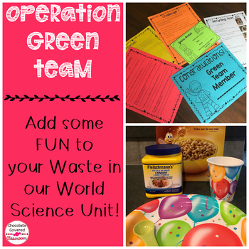 Waste in our World Science Superhero Themed Challenges