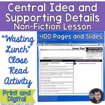 Wasting Food? Determining Central Idea and Supporting Deta