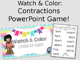 Watch & Color Contraction PowerPoint Game