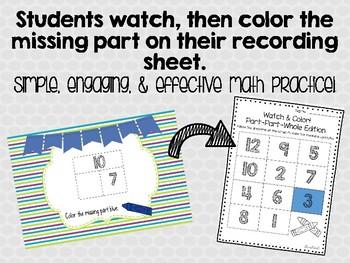 Watch & Color Part Part Whole