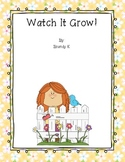 Watch It Grow: Plant Themed Emergent Reader and Printables