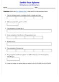 Watch & Learn: Geosphere & Biosphere Worksheet