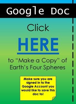 Earth's Four Spheres: Geosphere & Biosphere Worksheet