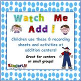 Kindergarten Addition Stations