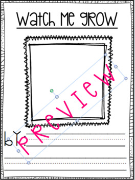 Watch Me Grow- Monthly Name Activity