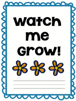 Watch Me Grow! Monthly self-portrait and writing samples
