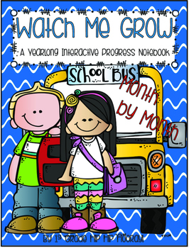 Watch Me Grow...Monthly Interactive Notebook...Math, Reading, Writing