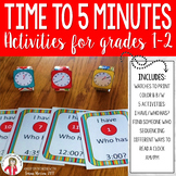 Telling Time to 5 Minutes Games and Activities 2nd Grade