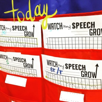 Watch My Speech & Language Grow {forms for students to track their own data}