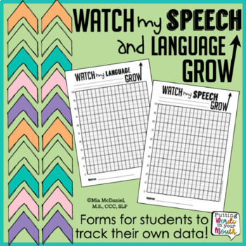 Speech & Language Data Tracker {for students to track their own progress}
