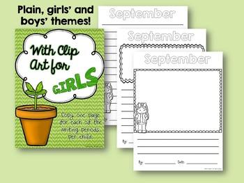 Writing Paper - A School Year Writing Treasury