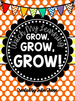 Watch Our Learning Grow, Grow, GROW! {A Kindergarten Goal Book & Posters}