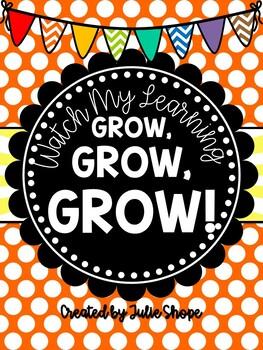 Watch Our Learning Grow, Grow, GROW! {A Kindergarten Goal