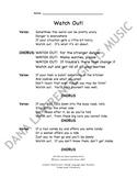 Watch Out! Companion Lyrics Sheet