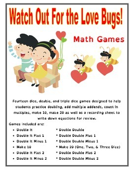 Watch Out For the Love Bugs! - Valentine's Math Games