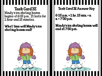 Watch Out!  Task Card Word Problem Practice for CCSS 3.MD.1