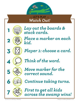 Watch Out abstract wa, al, ough, out Phonics Game - Words Their Way Game