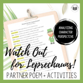 """""""Watch Out for Leprechauns"""" {A Seasonal Partner Poem for S"""