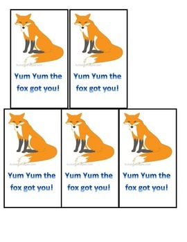 Watch Out for the Fox...Blends Game