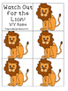 Watch Out for the Lion! (a v/v word game) Orton-Gillingham Inspired