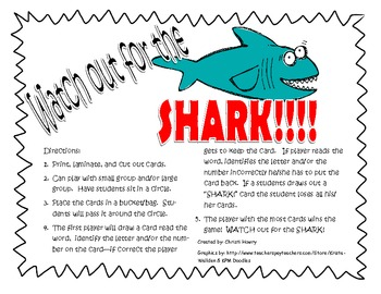 Watch Out for the Shark!!  game