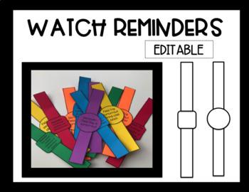 Watch Reminders-Editable