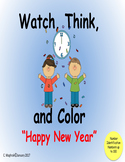 Watch, Think, Color Holidays  Happy New Year _ Number Iden
