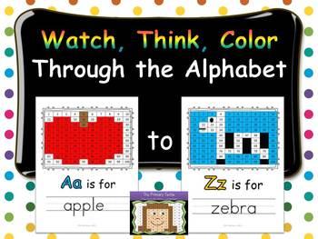 Watch, Think, Color Through the Alphabet Bundle
