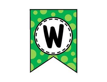 Watch Us Grow Banner - Bulletin Board - Green