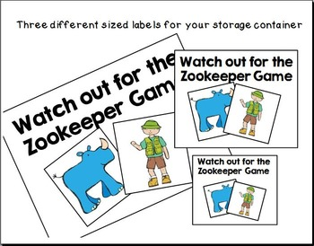 Watch out for the Zookeeper!  Game