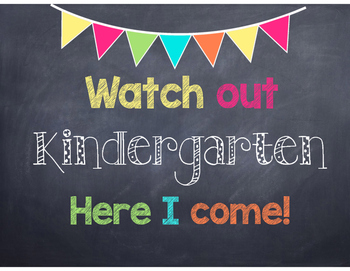 Watch out, here I come signs for Pre-K through 5th Grade