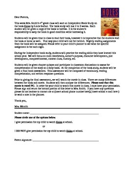 Watching a movie in class and need parent permission?