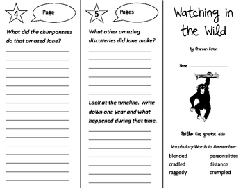 Watching in the Wild Trifold - Storytown 2nd Grade Unit 5 Week 4