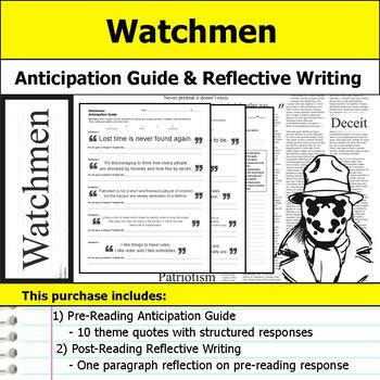 Watchmen - Anticipation Guide & Reflection