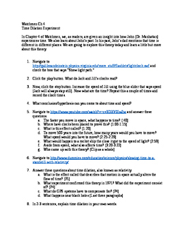 Watchmen Ch 4: Time Dilation Experiment (Web Quest)