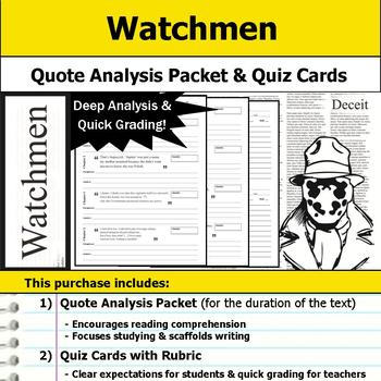 Watchmen - Quote Analysis & Reading Quizzes