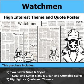 Watchmen - Visual Theme and Quote Poster for Bulletin Boards