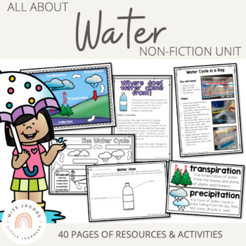 Water: All about water non-fiction unit {including the water cycle}